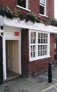 M Harvey Hair salon entrance